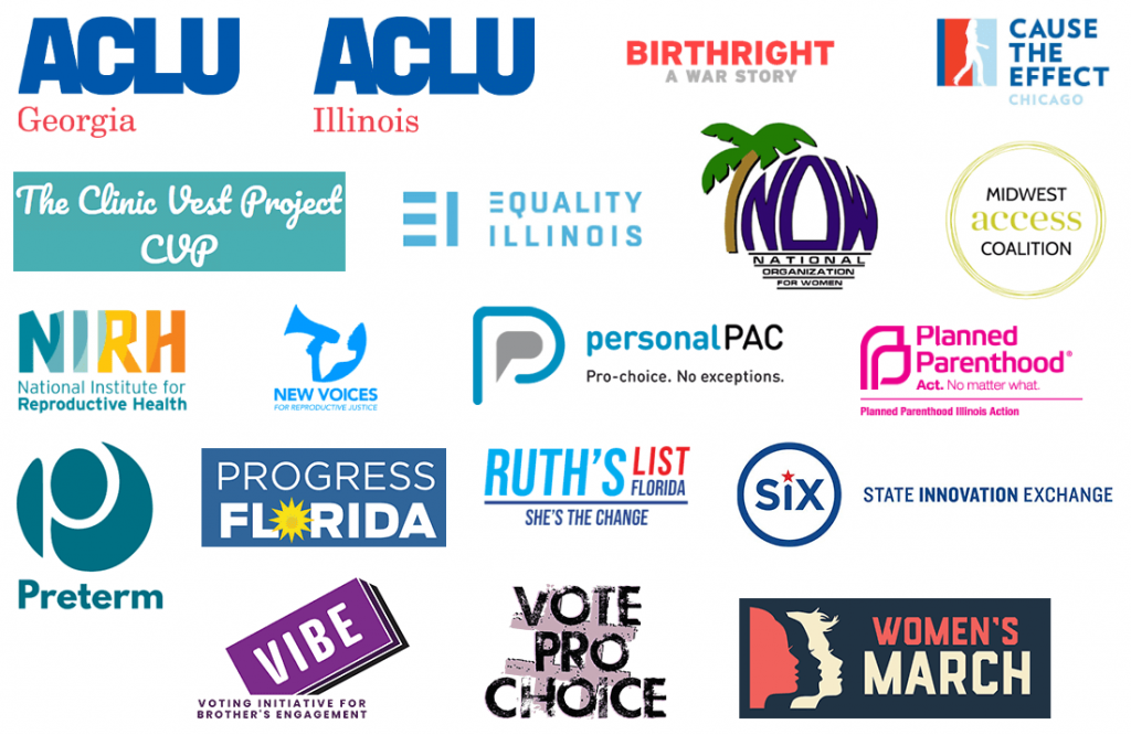 array of partner logos